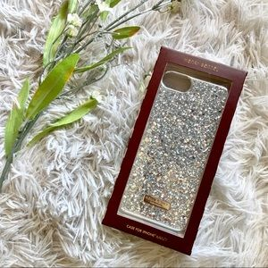 Henri Bendel Silver Glitter iPhone Case 6/6s/7